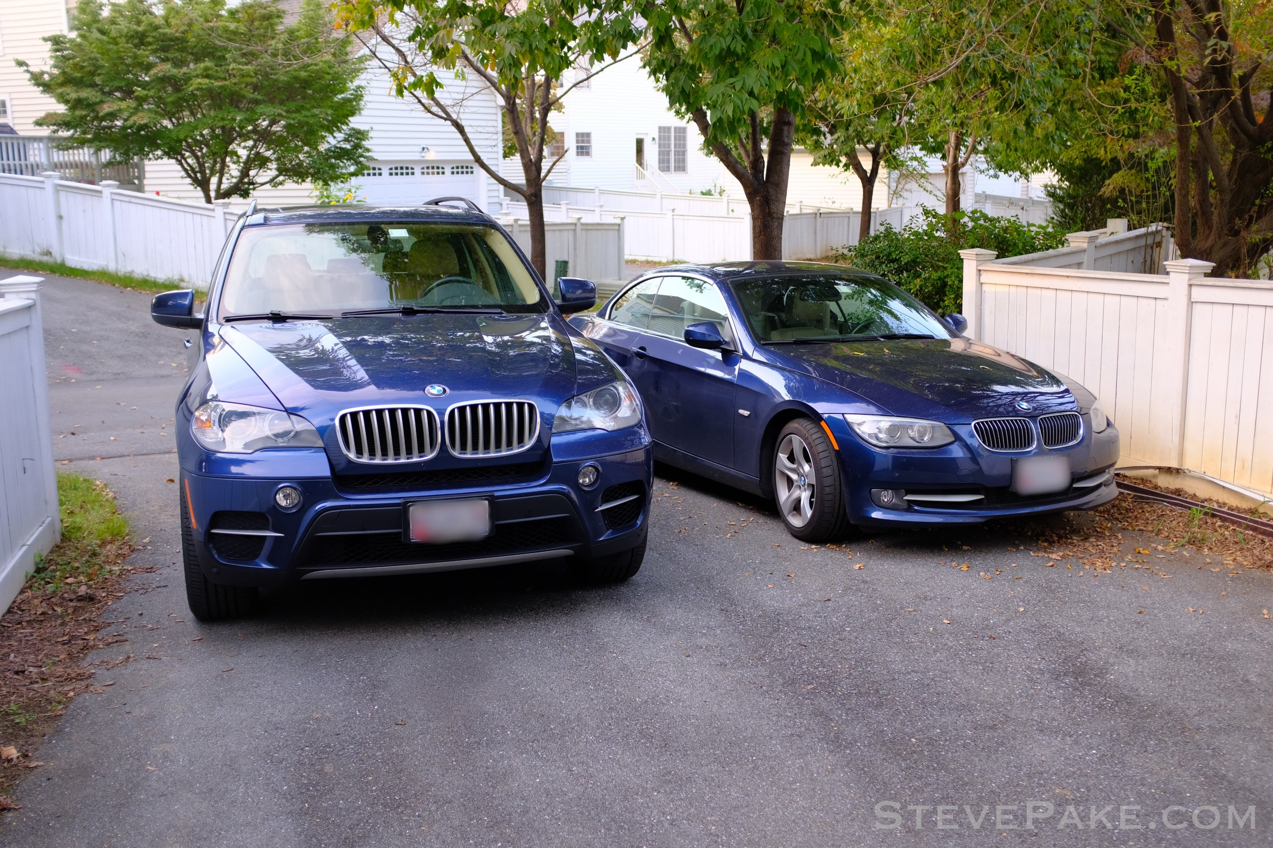 """We miss our """"his and her"""" Deep Sea Blue BMW pair! My wife's 2012 X5 was a great vehicle that served us well, but our lives have changed and moved on, and even the new X7 wasn't going to serve our needs."""