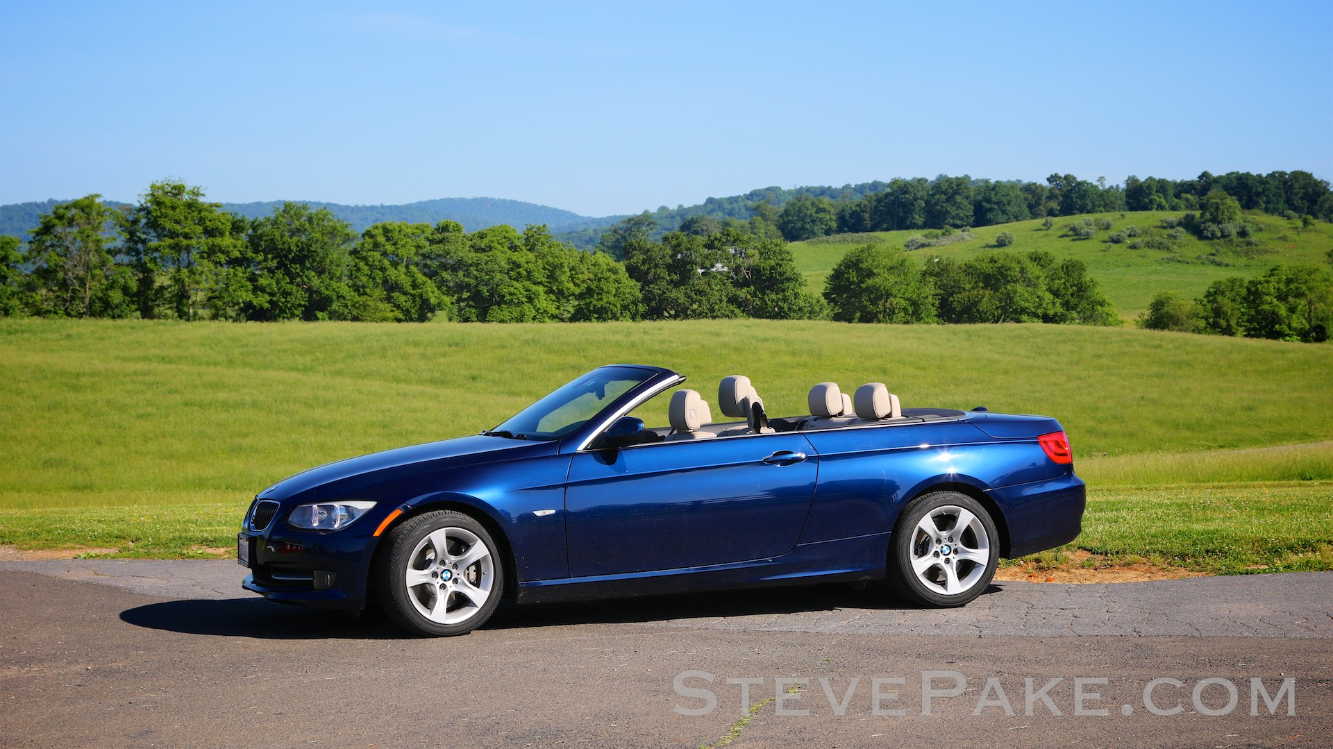 """My beloved 2011 BMW """"E93"""" 335i convertible. It's truly a glorious machine and literally the last of its breed with BMW's classic hydraulic power steering, before they muddied their driving experience with over-electrified cars. I'm glad we kept this one."""