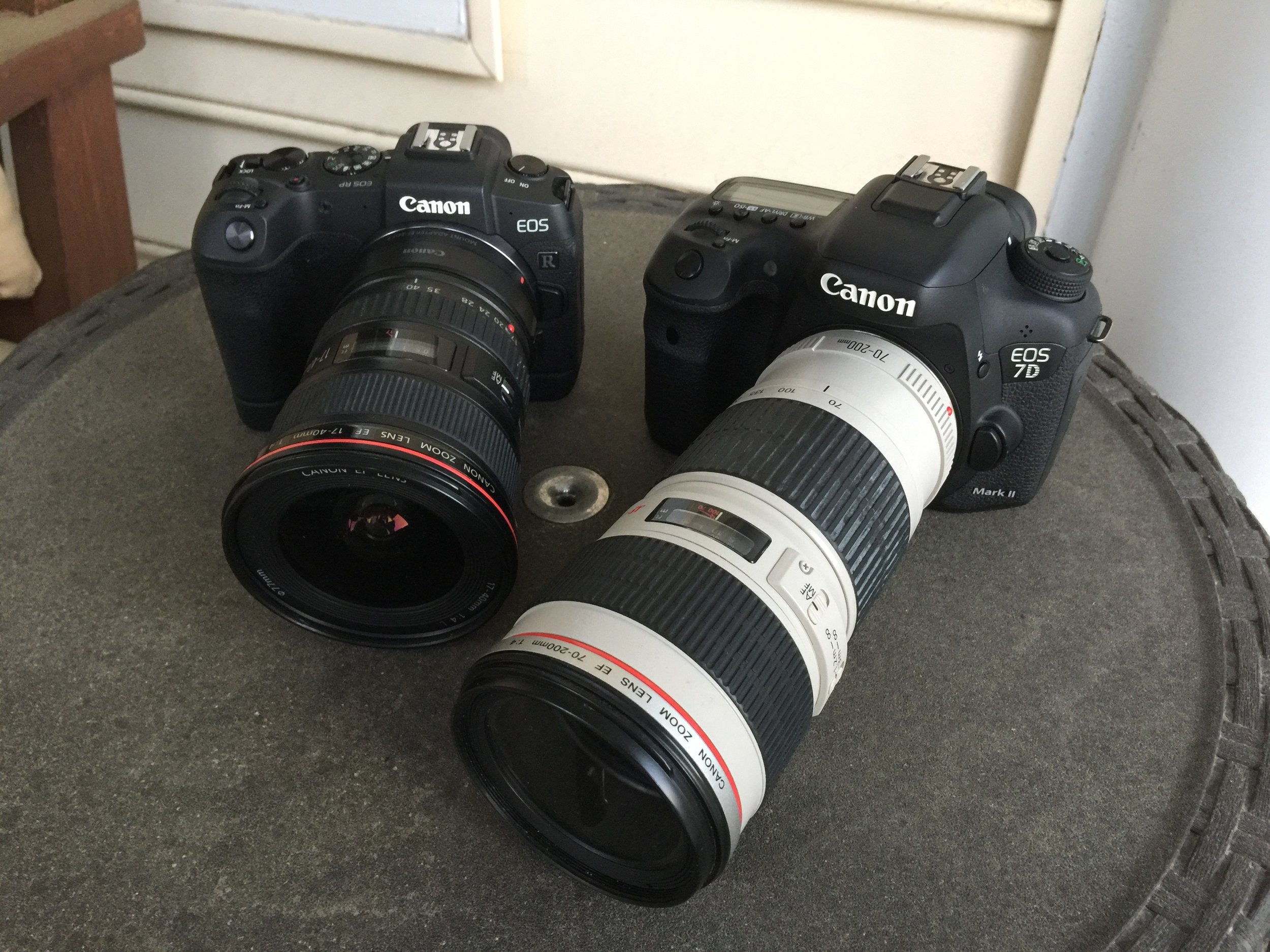 I could have just brought the Canon 7D Mark II, but wanted to play with the new RP also!