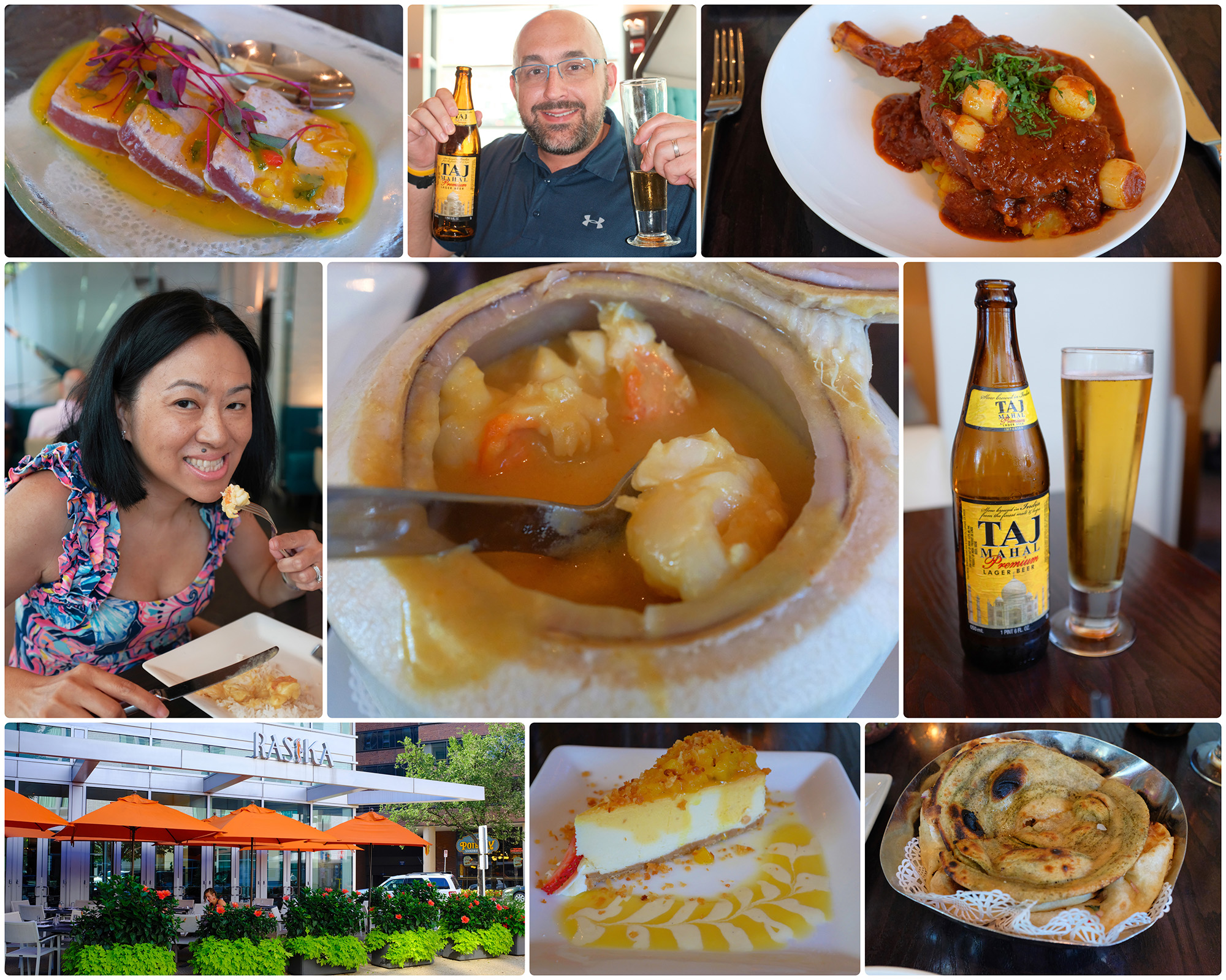 Rasika West End - no photo album, just a quick collage!