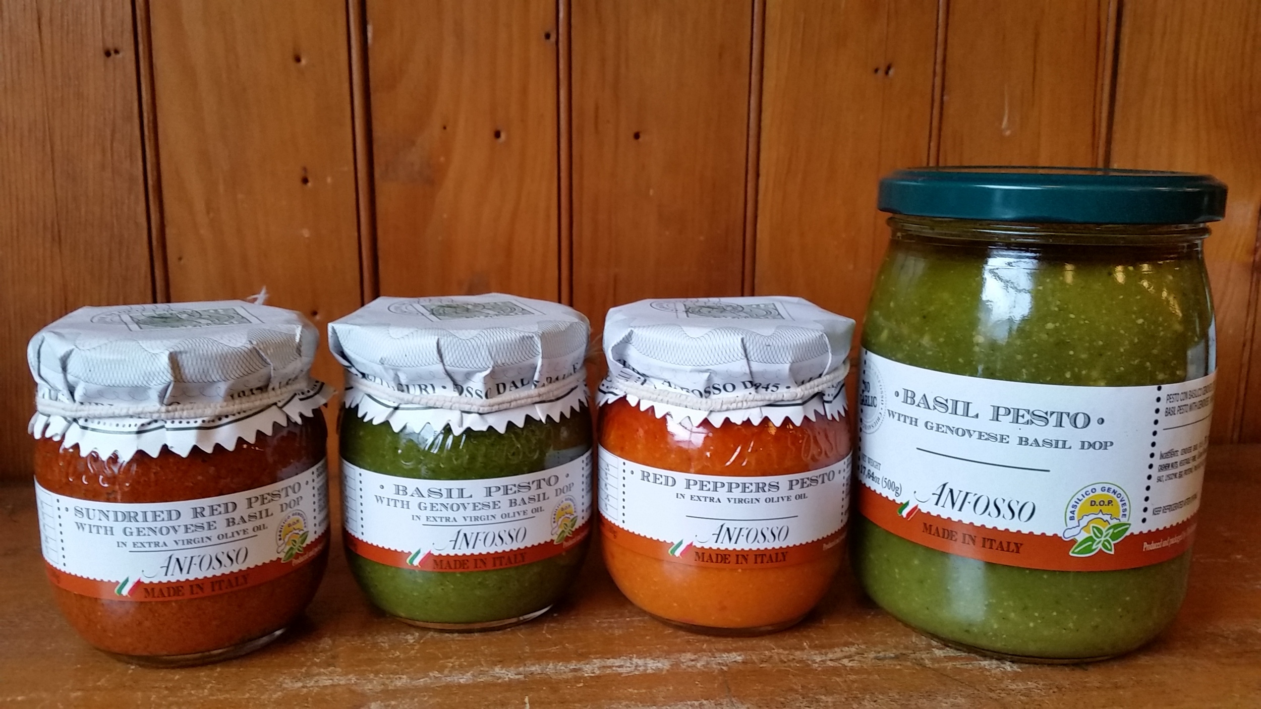 Different pesto sauce from Anfosso