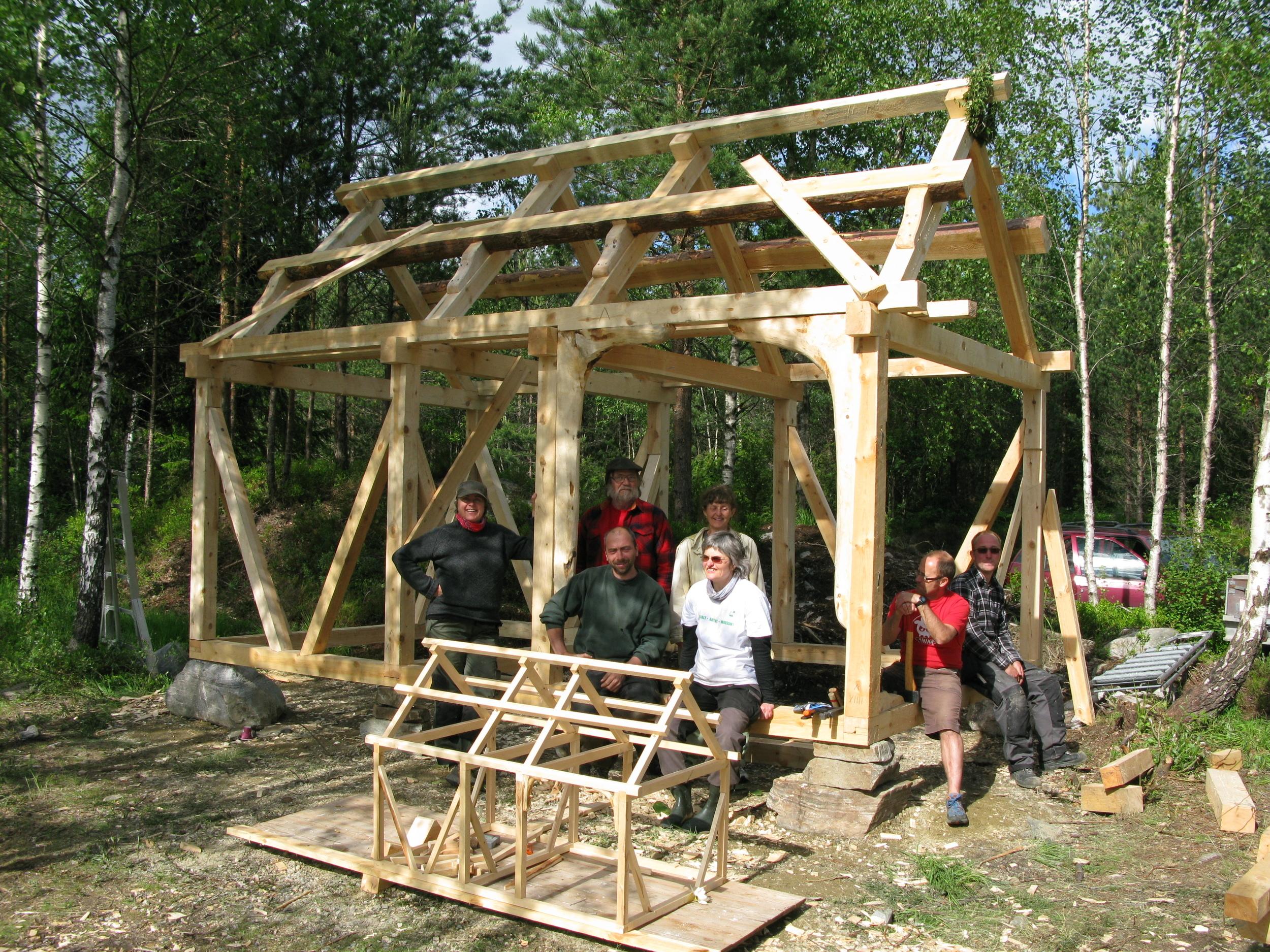 Minihus/ byggesett til å leike med