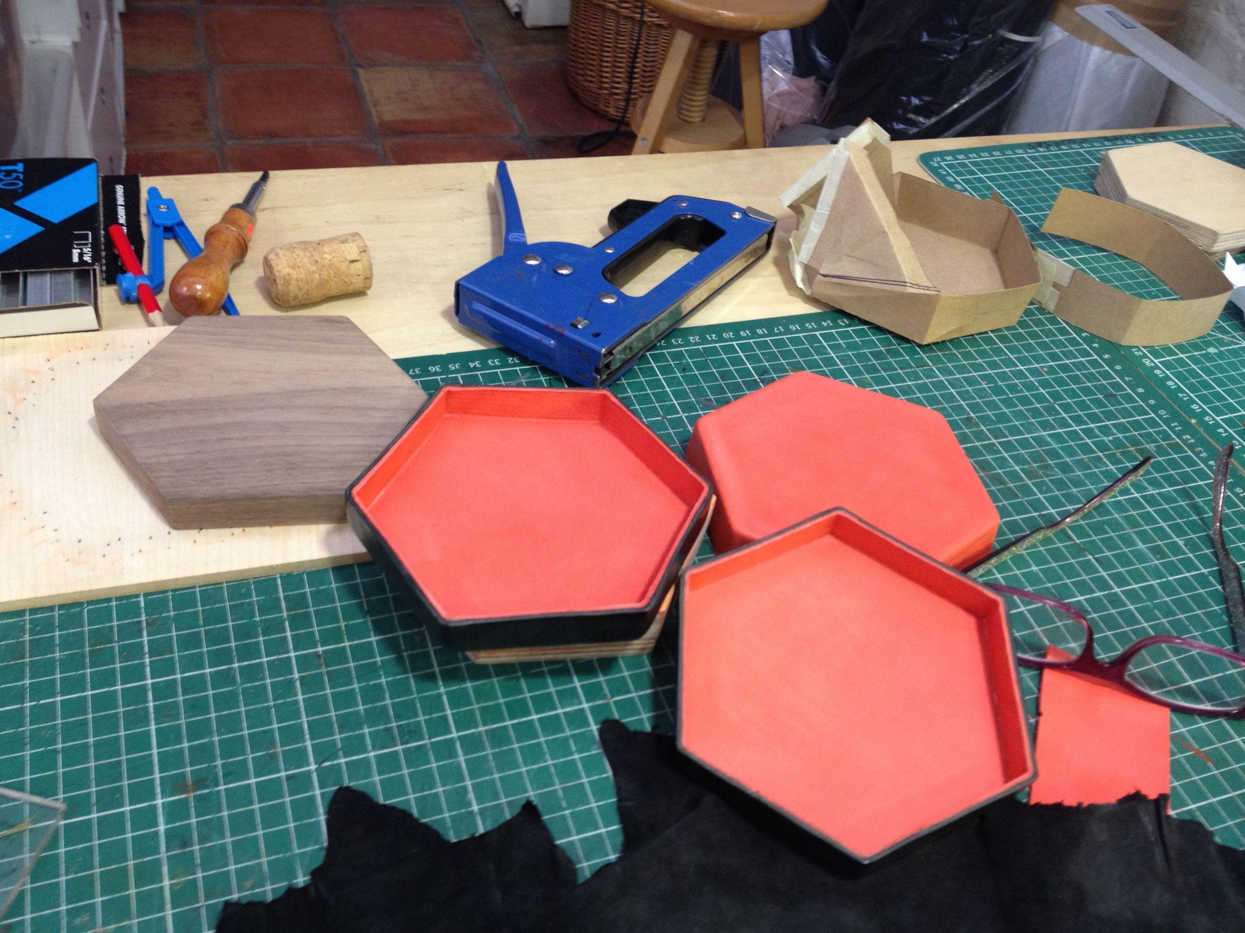 Moulded Clutch bag in progress