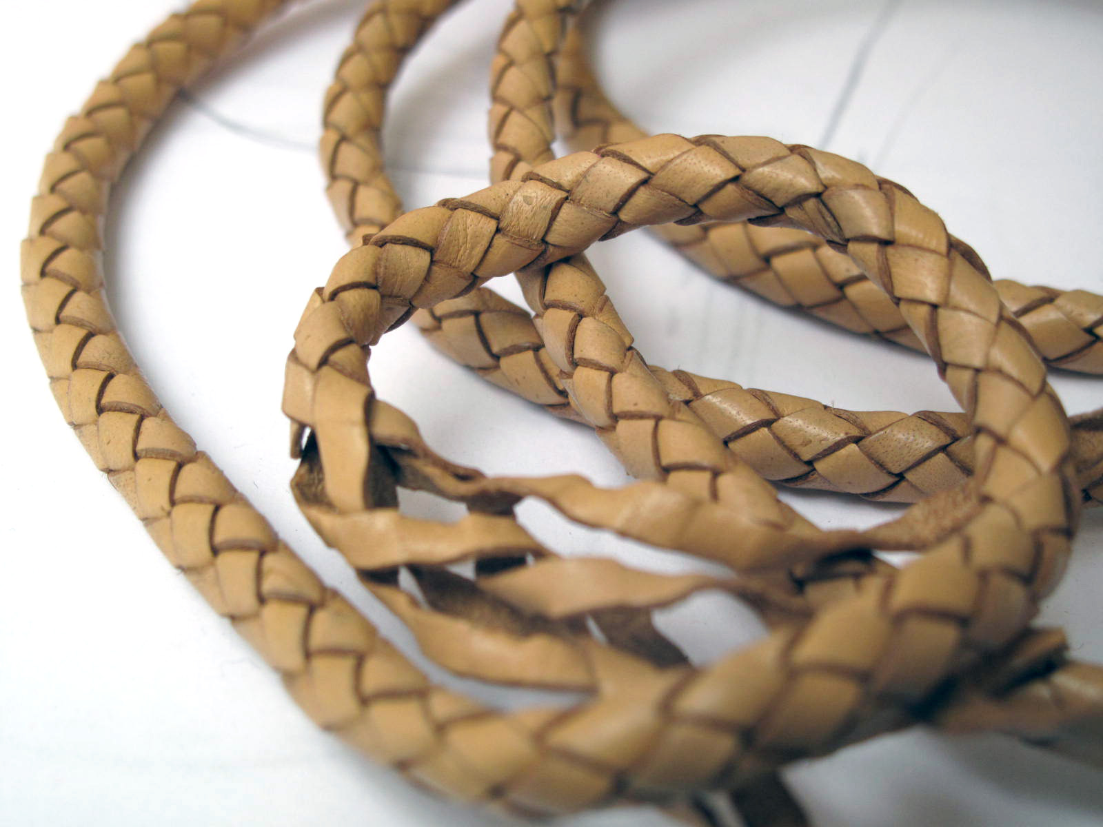 plaited leather