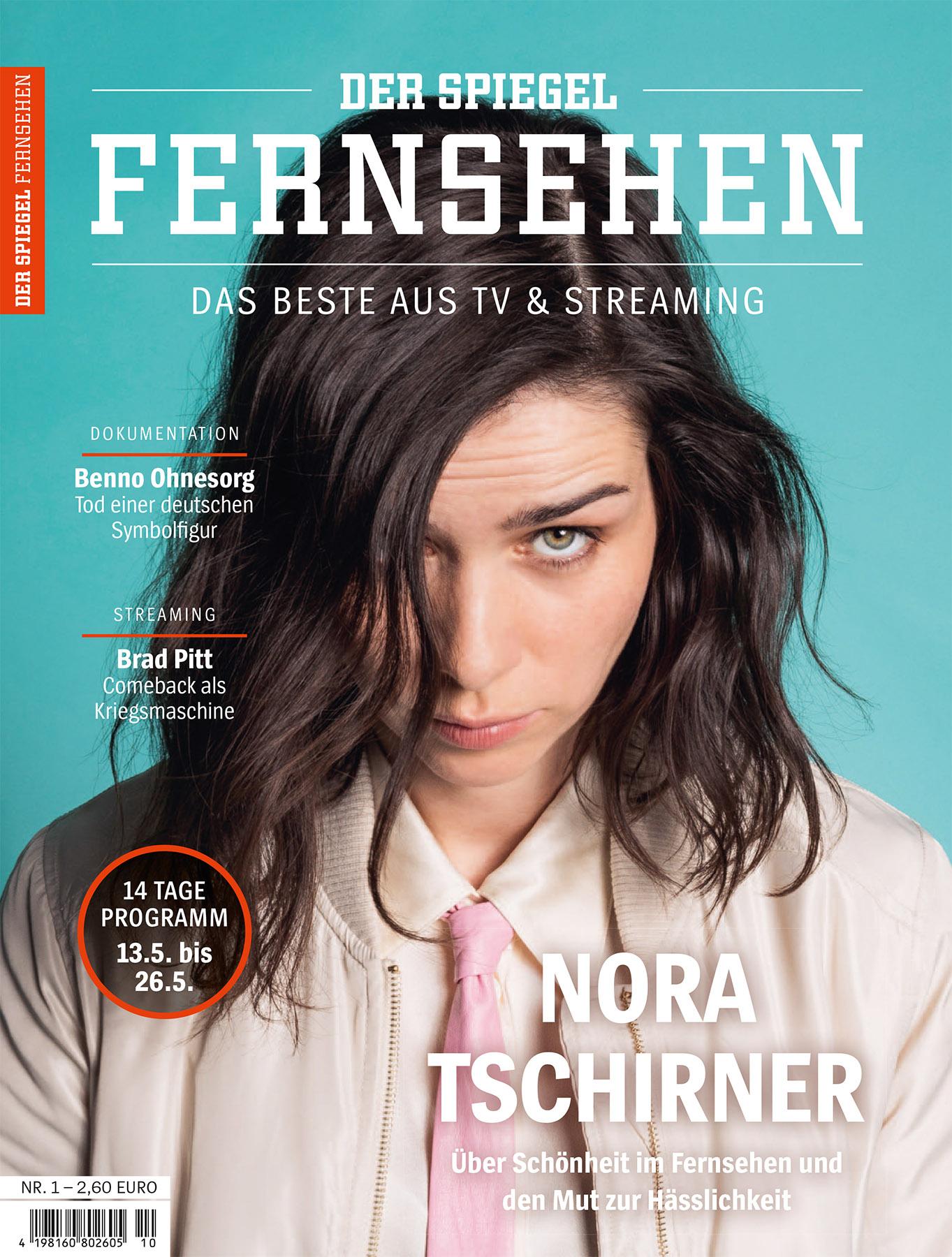 Nora Tschirner, Cover Spiegel Fernsehen