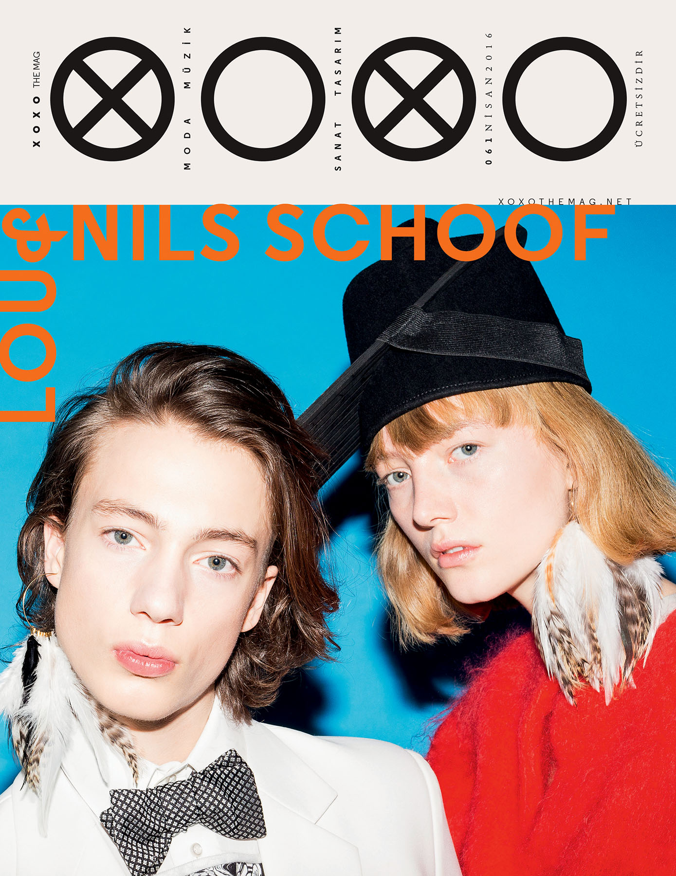 Cover, Lou and Nils Schoof, XOXO Magazin