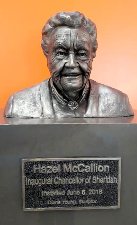"""MAYOR HAZEL McCALLION 19"""" x 10"""" x 14"""""""
