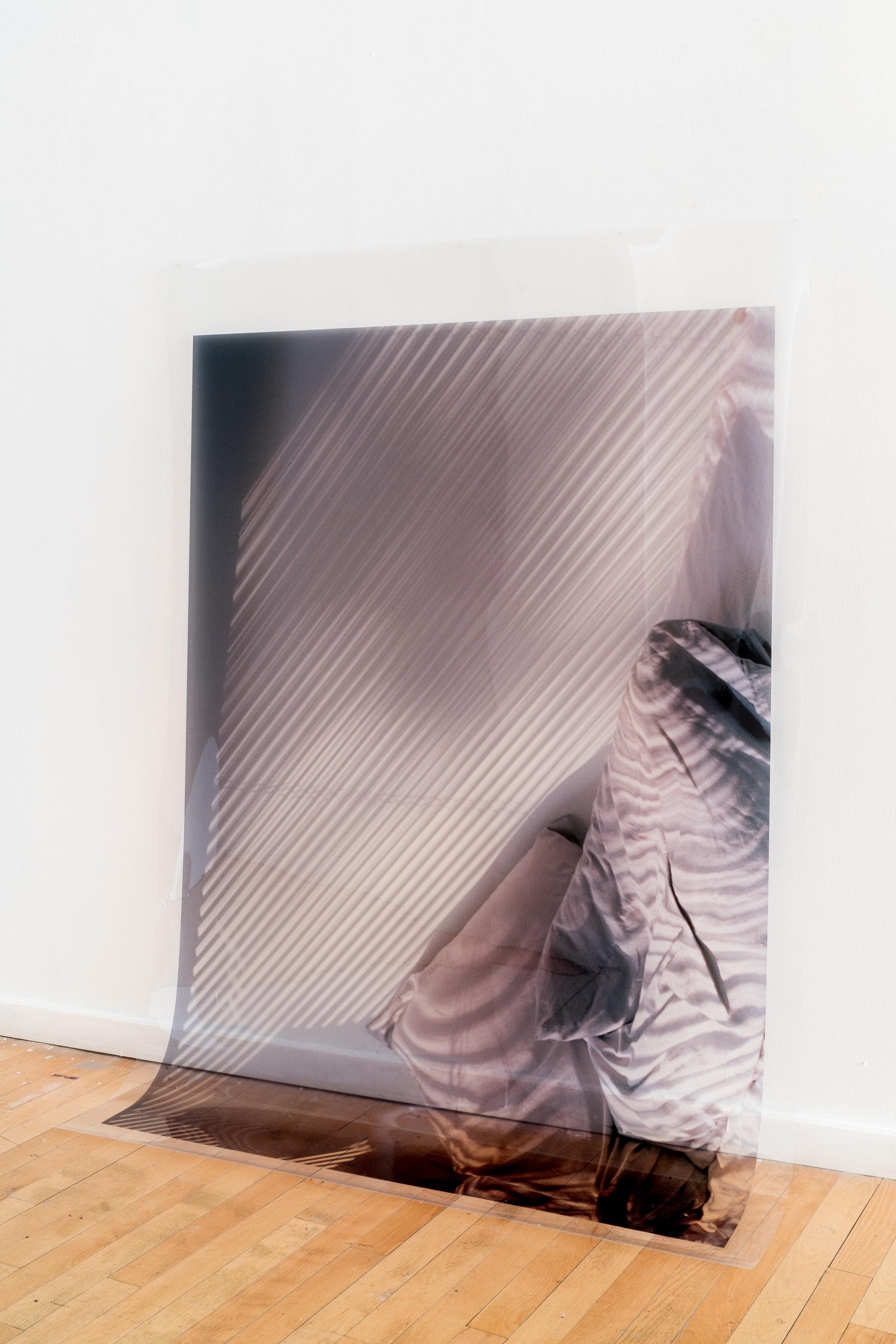 A Bedroom Full of Light . Xan Shian. 44 x 60 in. Colour Inkjet print on transparency. 2017.