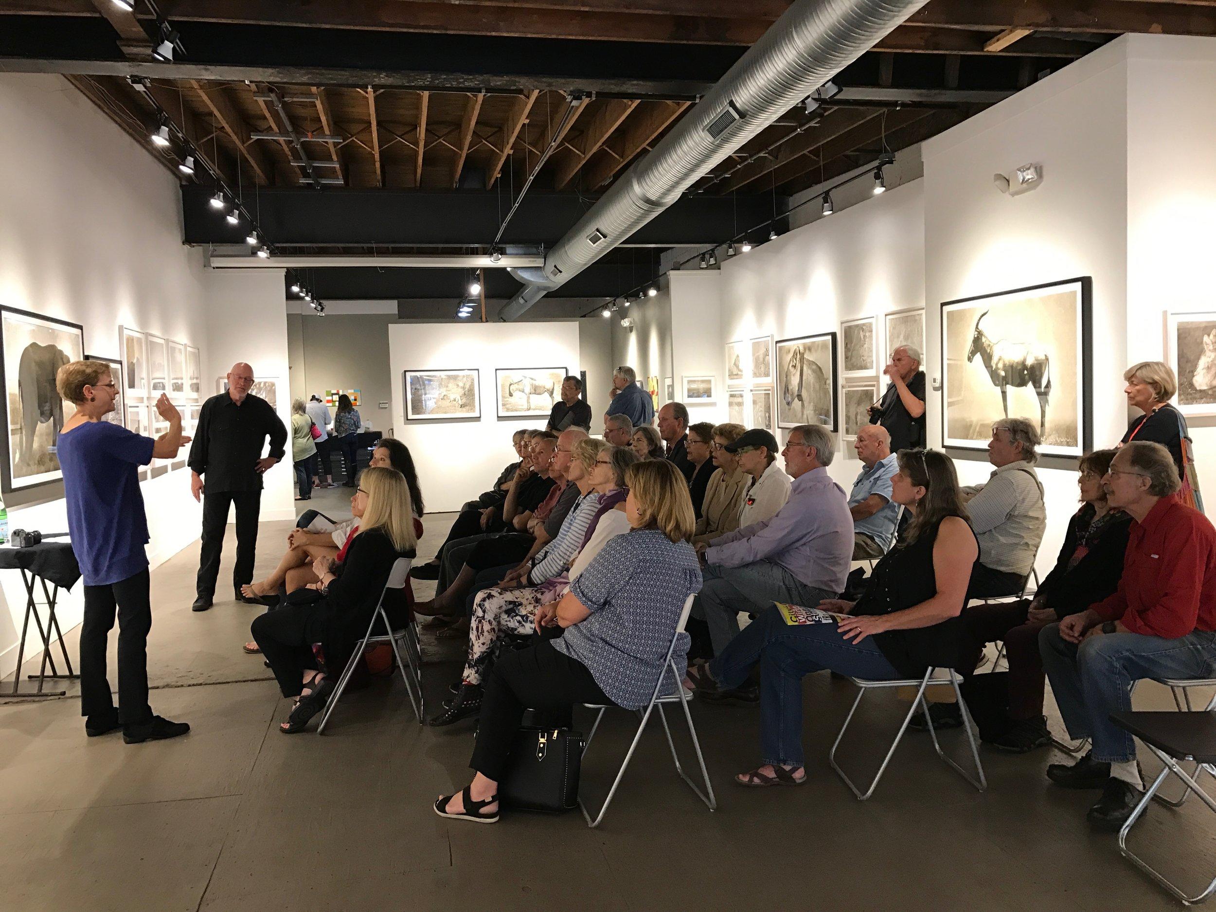 "Penrhyn + Rod Cook speak about their exhibit ""Vanishing"""