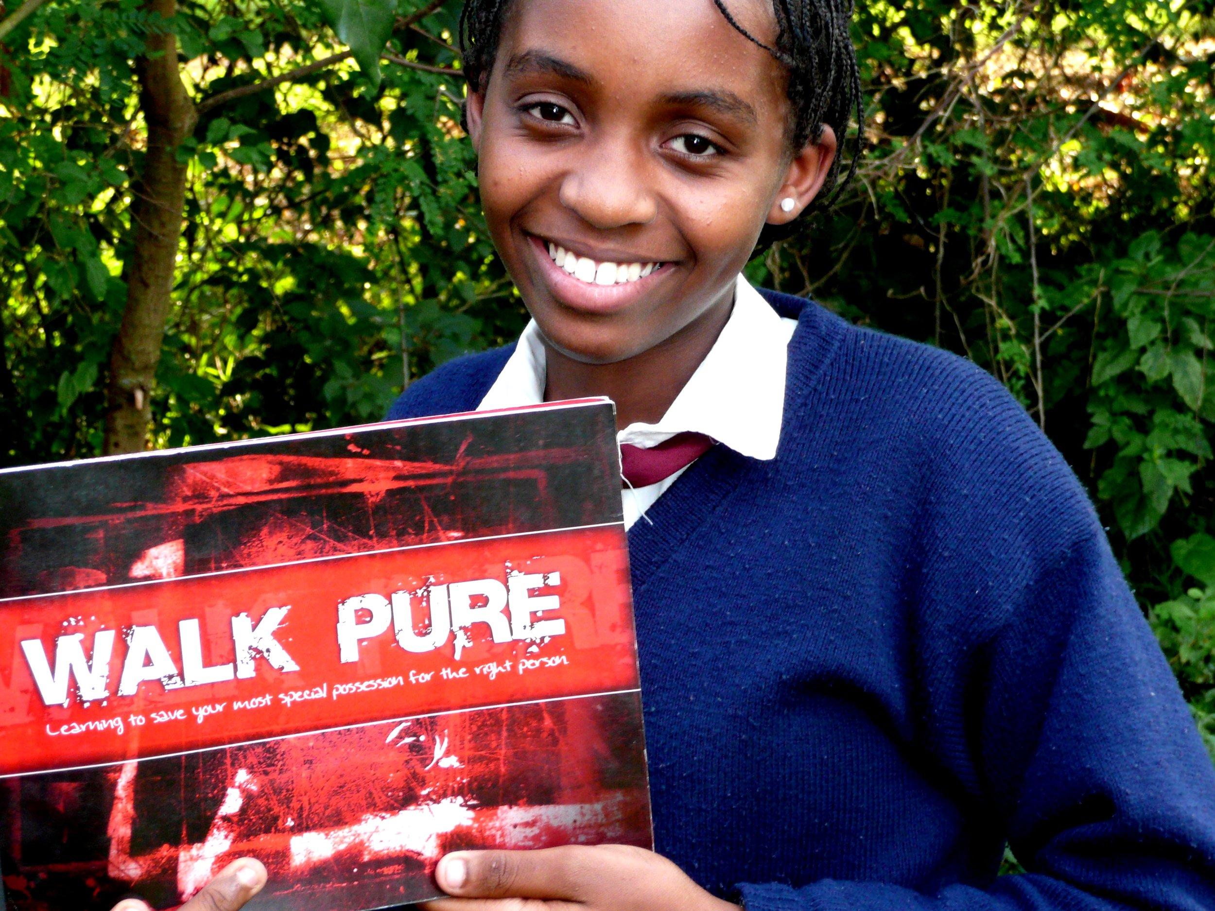 Girl with Walk Pure book.JPG
