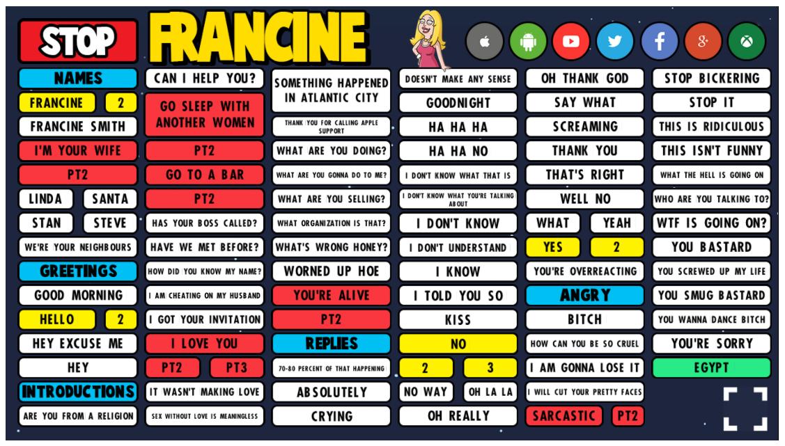 Francine soundboard preview