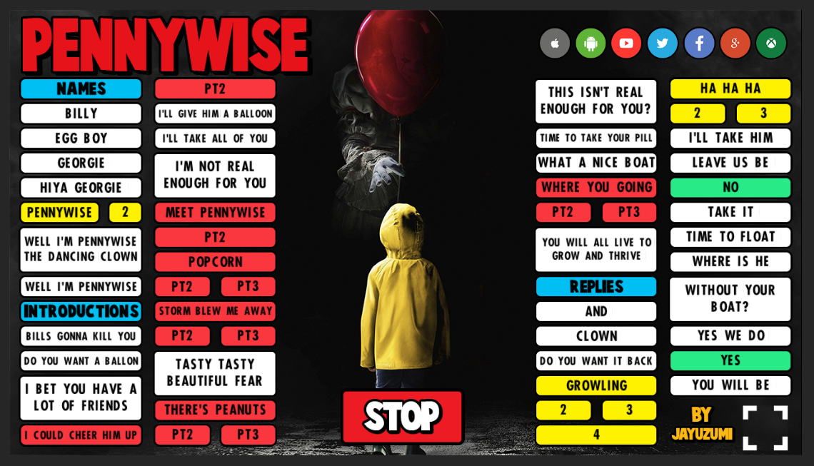 Pennywise soundboard preview