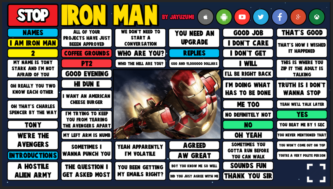 Iron Man soundboard preview