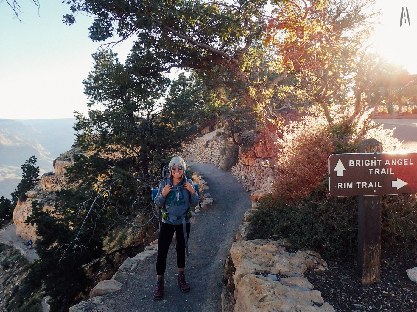 Top of Bright Angel Trail, Grand Canyon.
