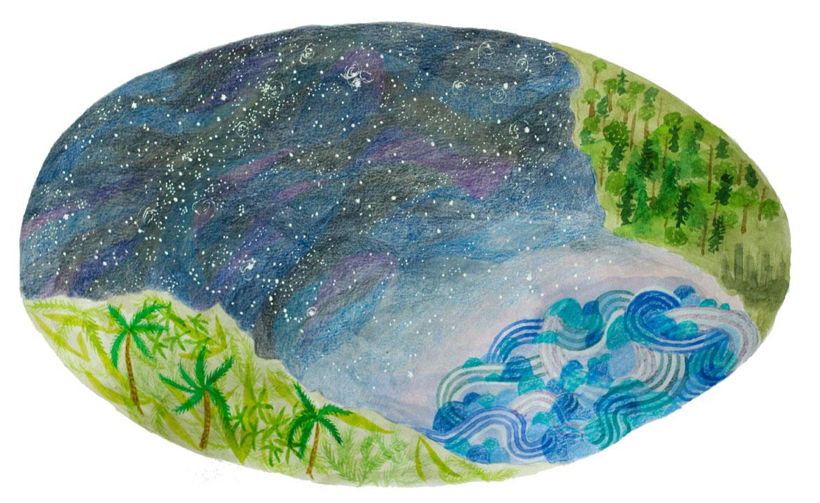 Artwork by Julia Loman courtesy of Amazon Aid Foundation.