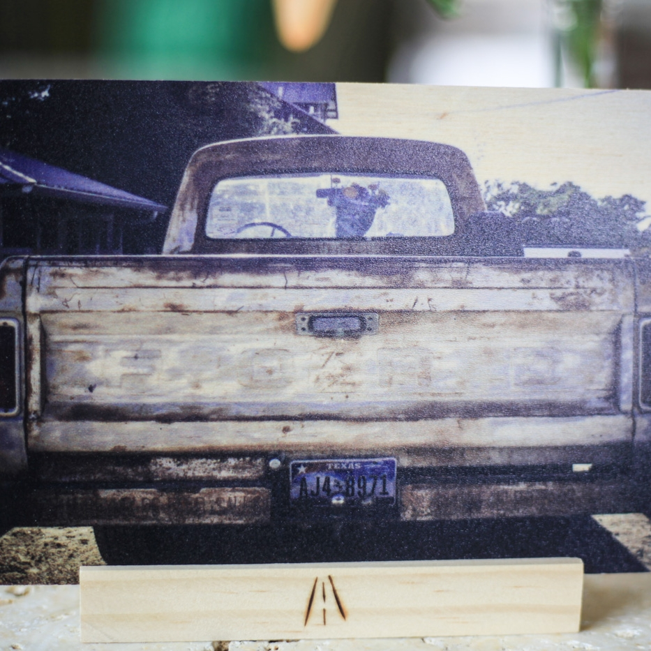 Ford With Flowers : 5x7 + Stand