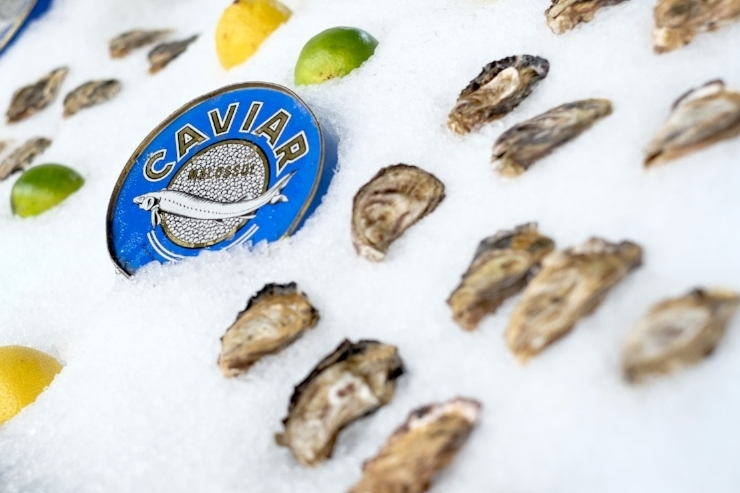 Oyster Bar and Caviar at Cinque Terre Ristorante in Downtown Seattle, Washington