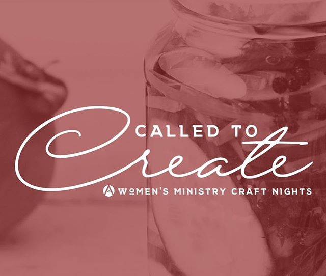LADIES! Super excited for TOMORROW NIGHTS Called to Create! Debbie Ekpenyong will be teaching us all about Canning! Link to registration is in the bio (it's $10 as usual!) but you are free to bring your own craft if you would like (as usual as well!). Walk-ins are welcome also!  Holler if you have any questions!