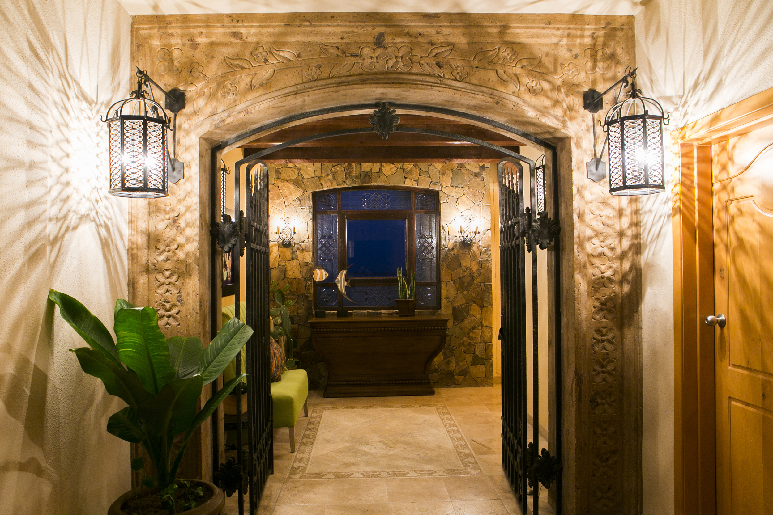 Hallway entrance to Villa