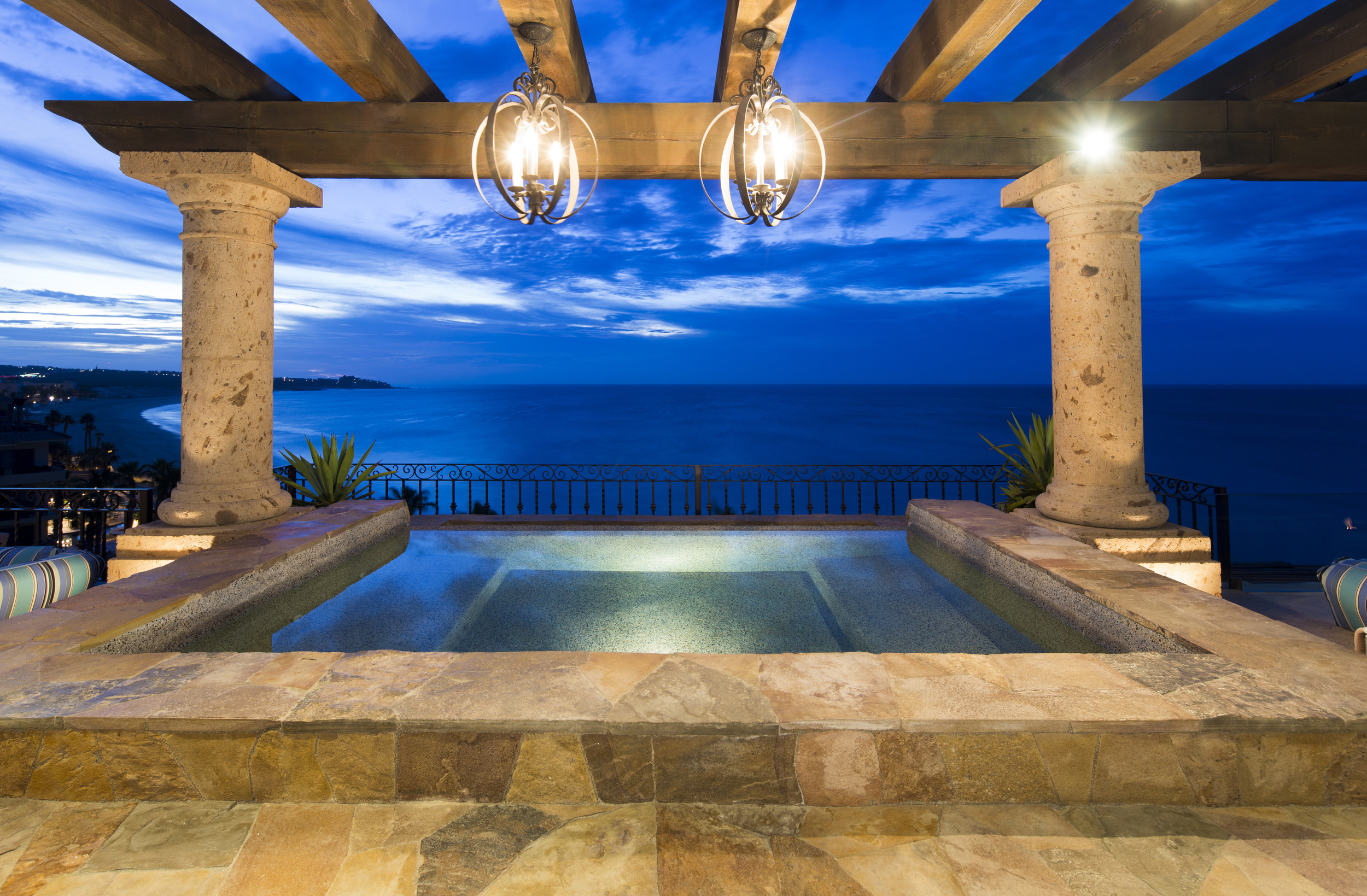 Infinity Hot Tub on Terrace