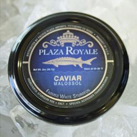 Plaza Royale鱼子酱标签