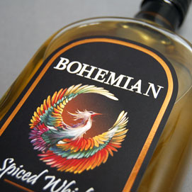 波希米亚香料威士忌标签