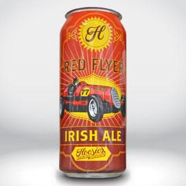 红色飞行爱尔兰啤酒收缩袖
