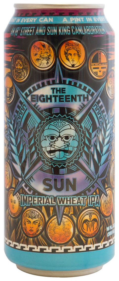Century Label produced the label for The Eighteenth Sun, the CANvitational-exclusive brew from Sun King and 18th Street Brewery.