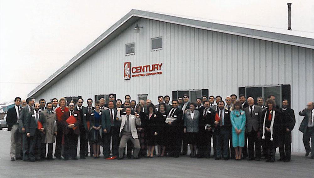 Century Label sales team circa 1985.