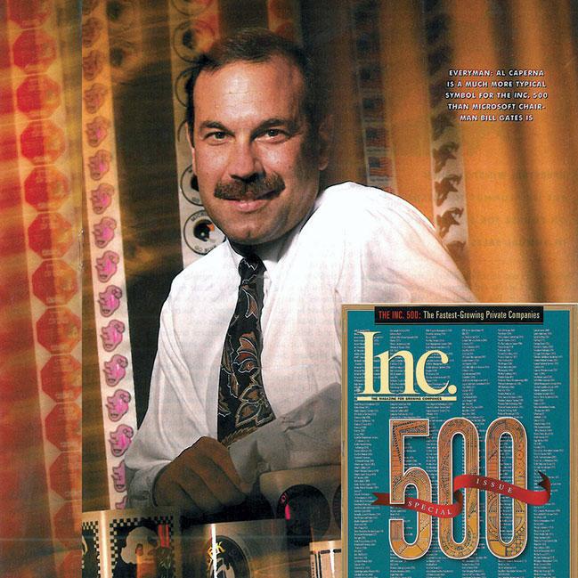 Century Label founder Al Caperna in Inc. Magazine circa 1985.