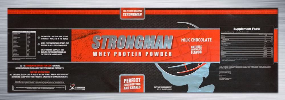 Strongman-Cold-Foil-Label