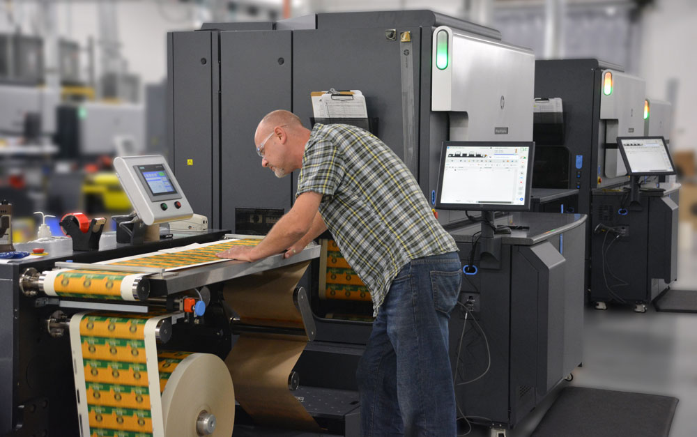 Century Label partnered with HP and was the first US converter to add the HP Indigo 8000 digital press.