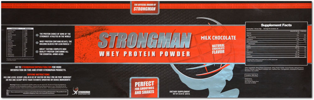 beplay官网违法吗Century Label最近凭借Strongman乳清蛋白粉标签获得PEAK奖的认可,该标签使用HD柔版印刷、四色工艺、银色冷箔和大约30,000英尺的材料(60,000个标签)。