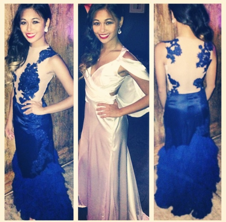 **Photo of Ashley's Americas It Girl gowns.