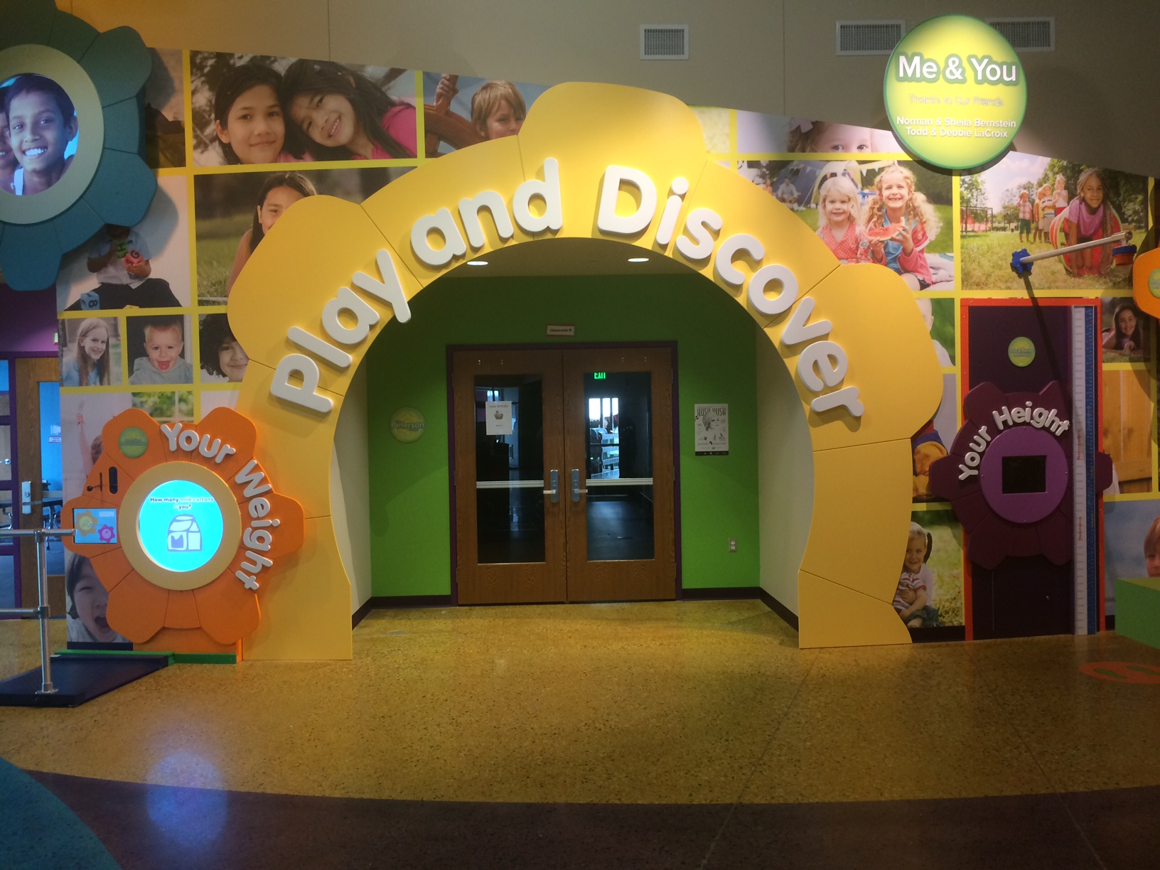 Me & You - Through play in the exhibit components. children will investigate their own personal statistics (height, and weight) plus discover the wealth of diversity within their community.