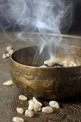 frankincense burning