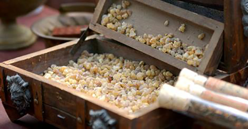 treasure chest filled with frankincense