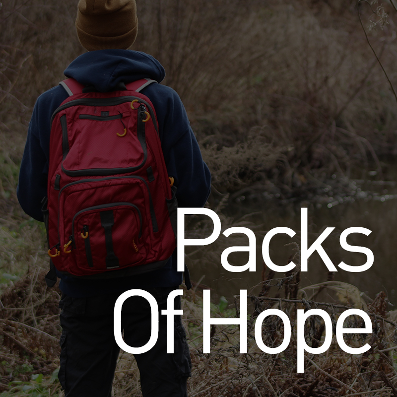 Partner with this non-profit humanitarian organization by filling a backpack with clothing, toiletries, books, or toys. Caseworkers distribute these backpacks to children and youth in need.    backpacksofhope.org