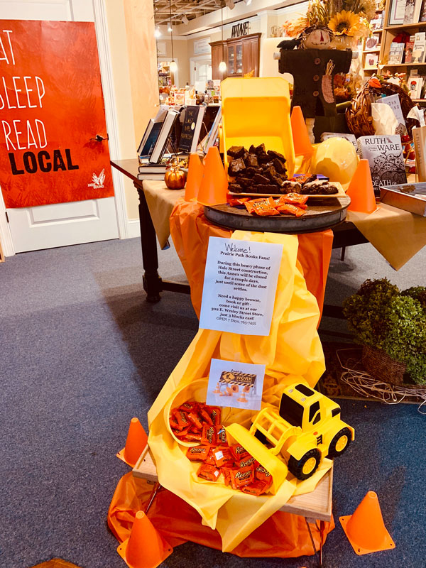 Visit our Brownies in Tow Trucks Treat Stations at both stores for a morale boost during construction!
