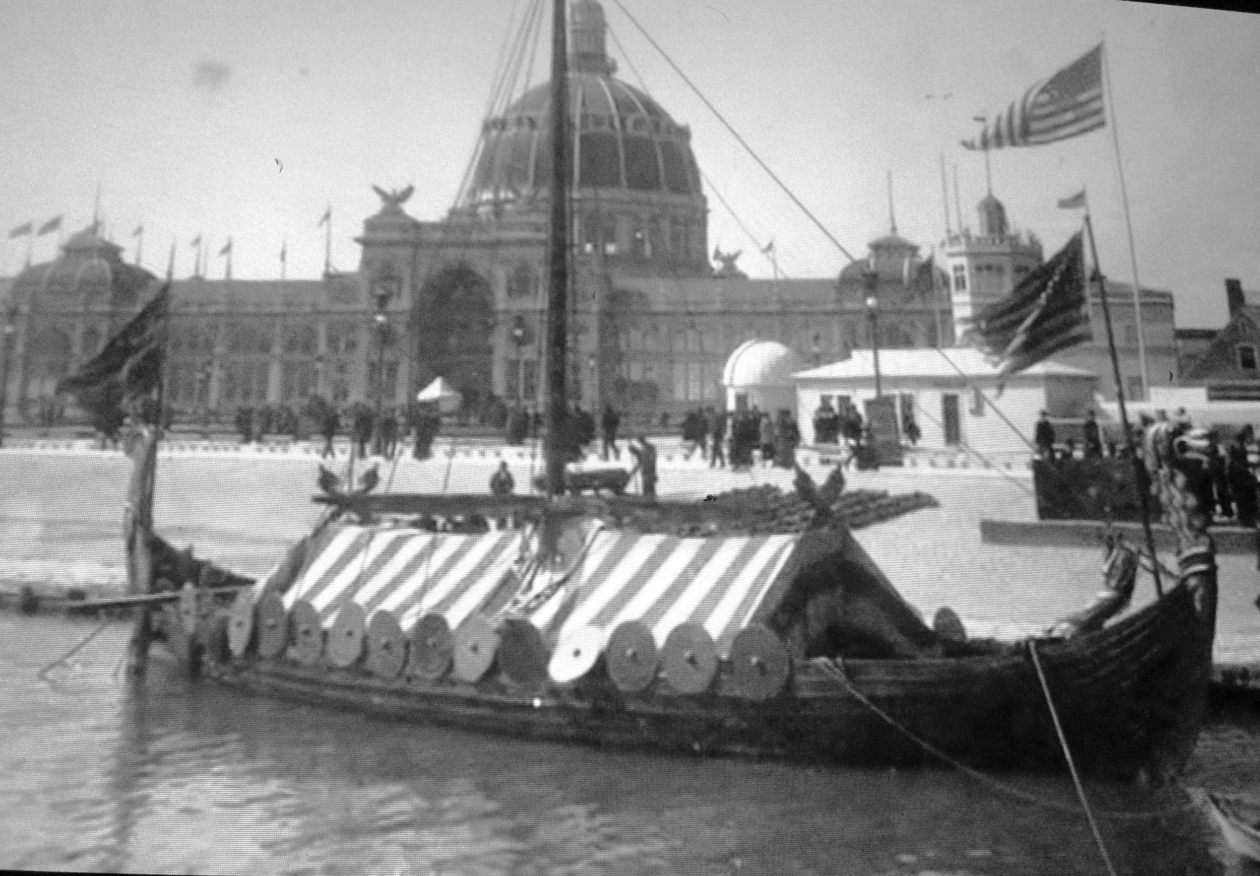 Viking ship at the World's Fair.