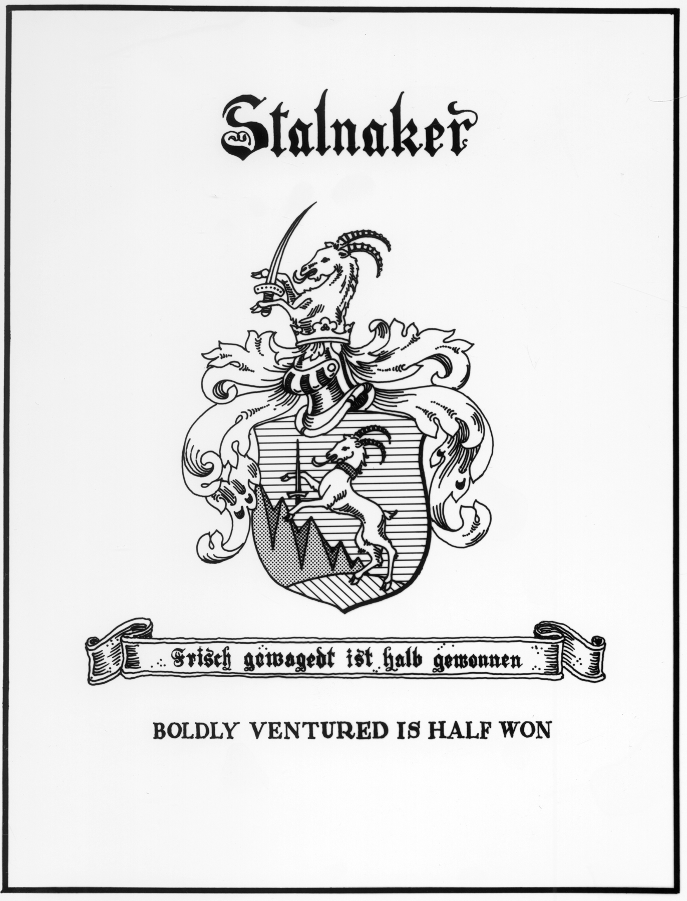 The Steinacker family of Germany in which, according to German Philologist, the American Stalnaker family has its origin, was anciently seated in Westphalia, Pommerania, and Silesia. - taken from a genealogical report in the US Congressional library by judge Leo Stalnaker.