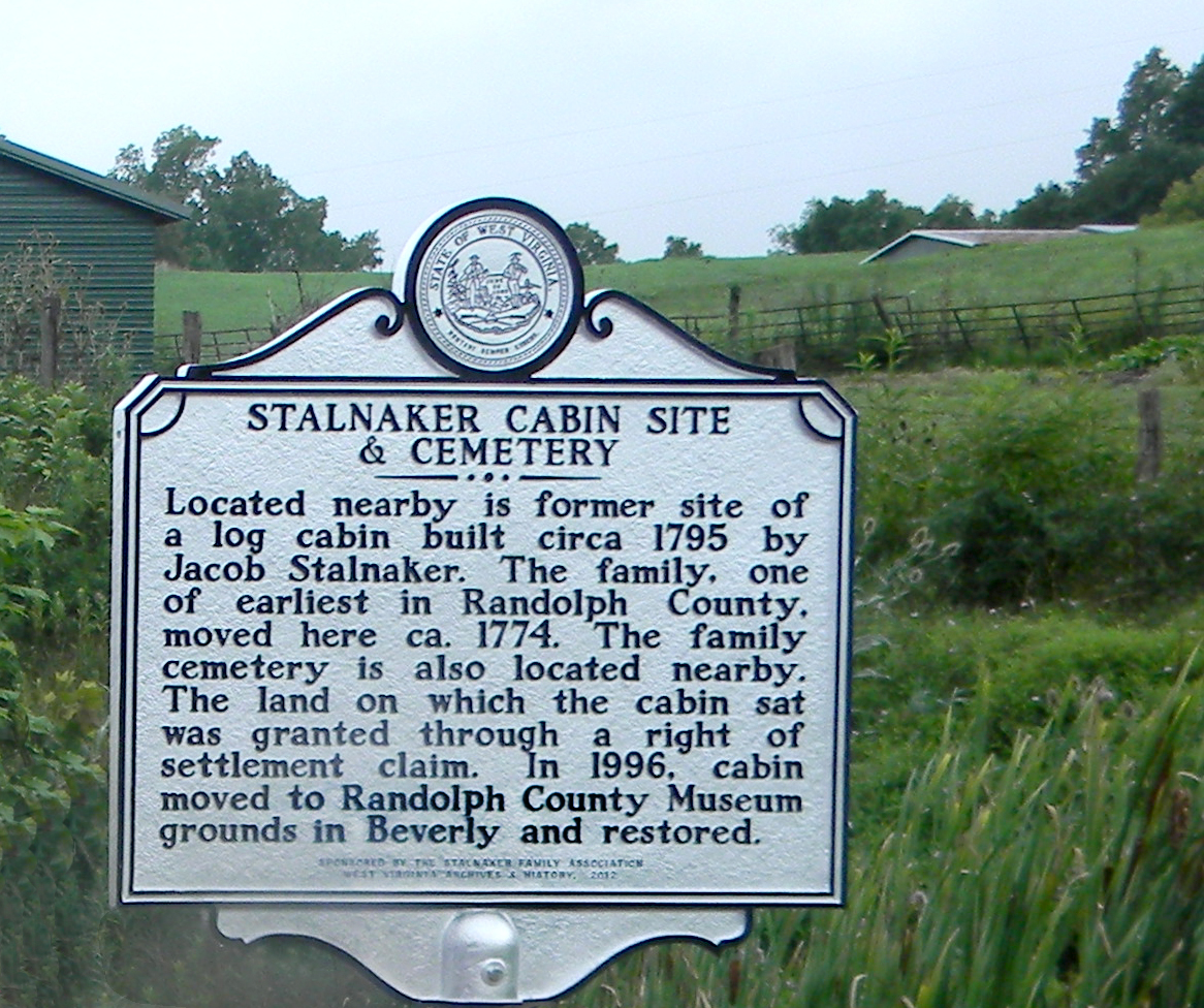 The Jacob Stalnaker Jr, cabin was built in 1795 originally located between Beverly and Dailey on U.S. 219/250 South in Randolph County, West Virginia across from the Bruce Hardwoods plant.