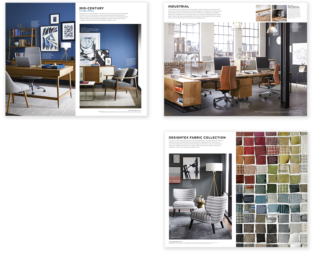 SPREADS FROM THE WEST ELM WORKSPACE CATALOG