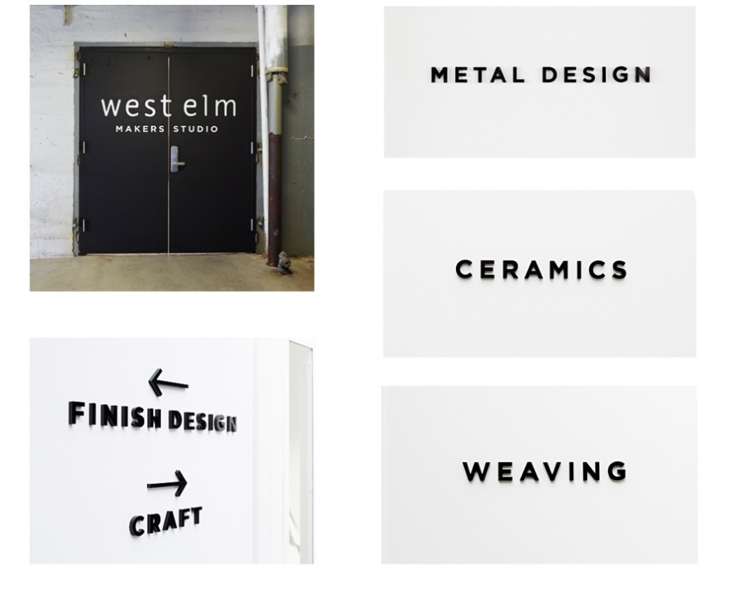 WEST ELM MAKERS STUDIO SIGNAGE INDUSTRY CITY, BROOKLYN