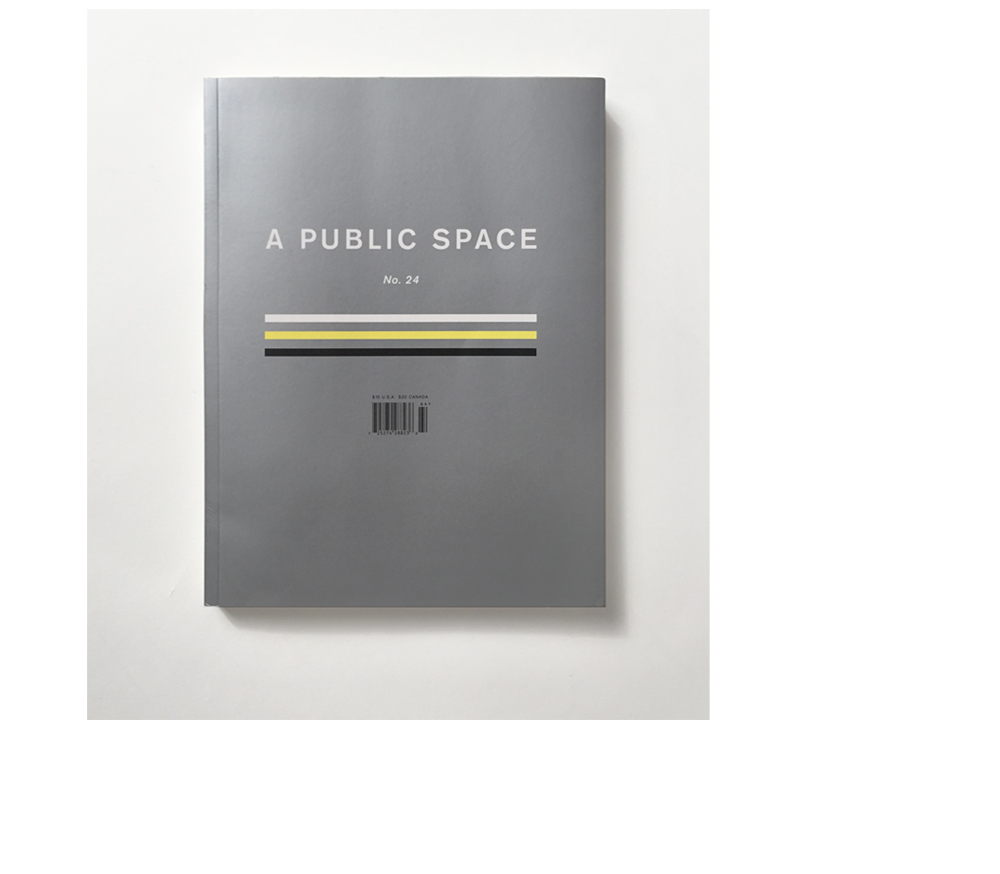 A PUBLIC SPACE  LITERARY MAGAZINE COVER DESIGN ISSUE 23