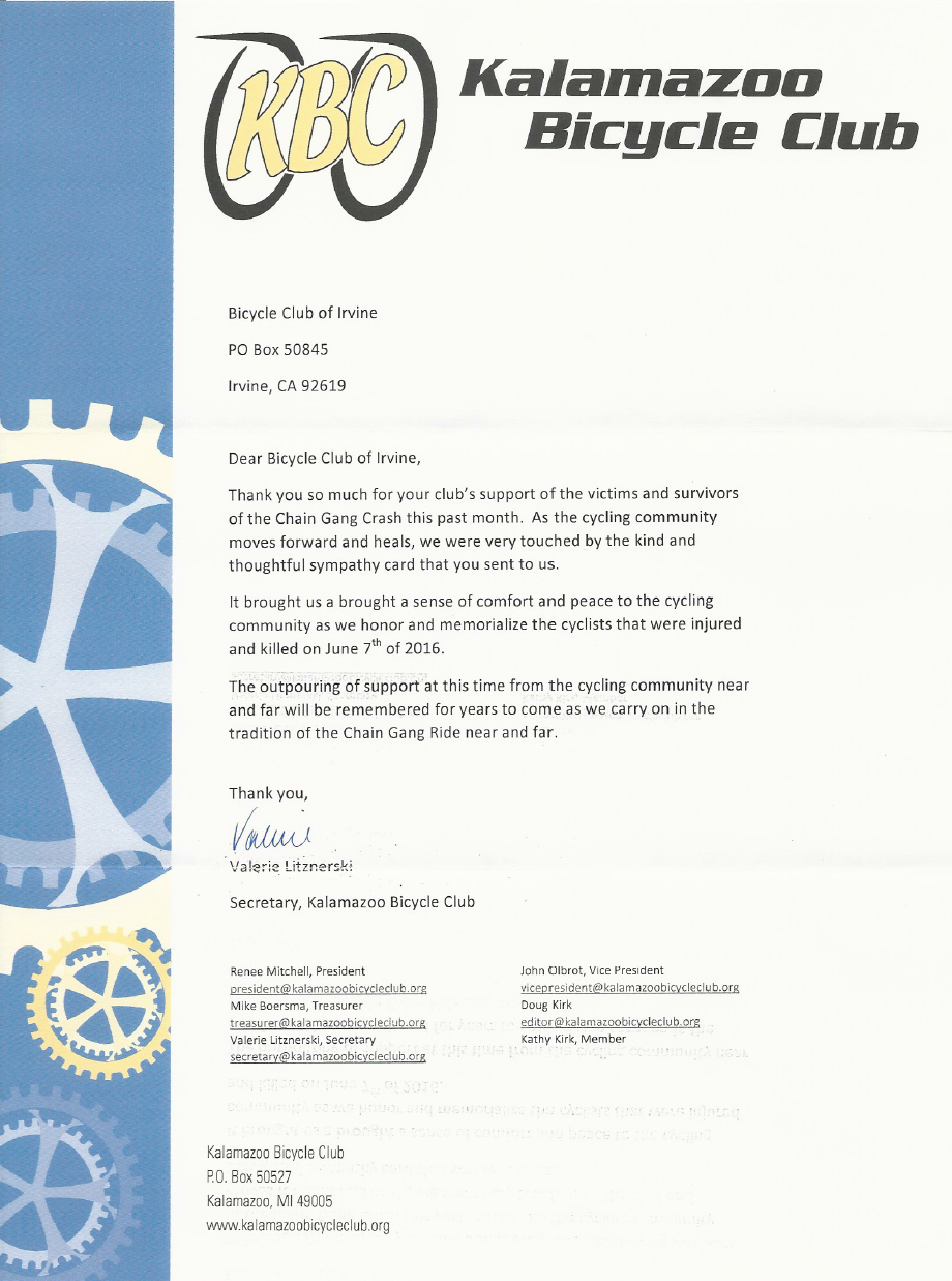 Letter we received back from the KBC