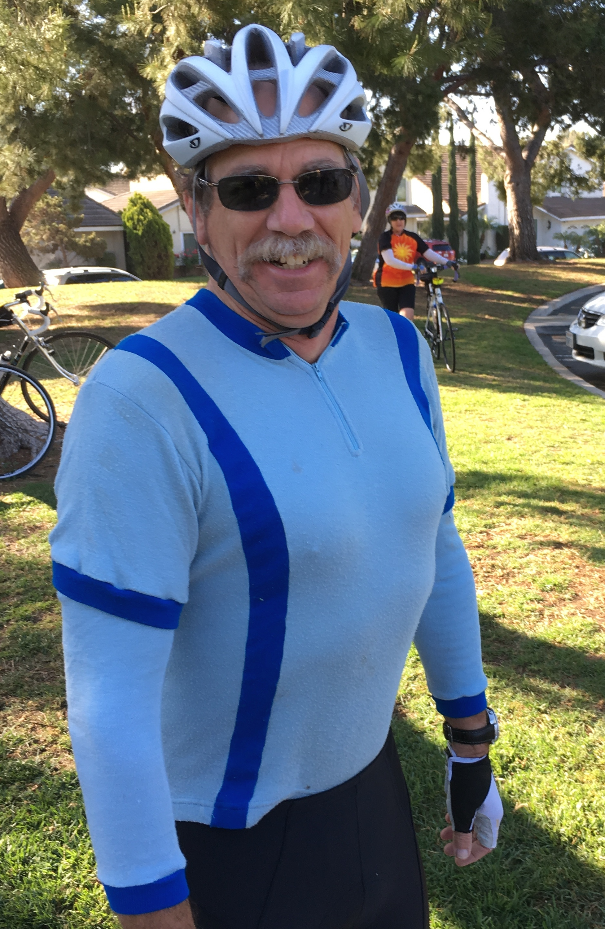 Bruce sporting his original 1983 BCI Jersey for Jersey Day - still fit after 33 years...