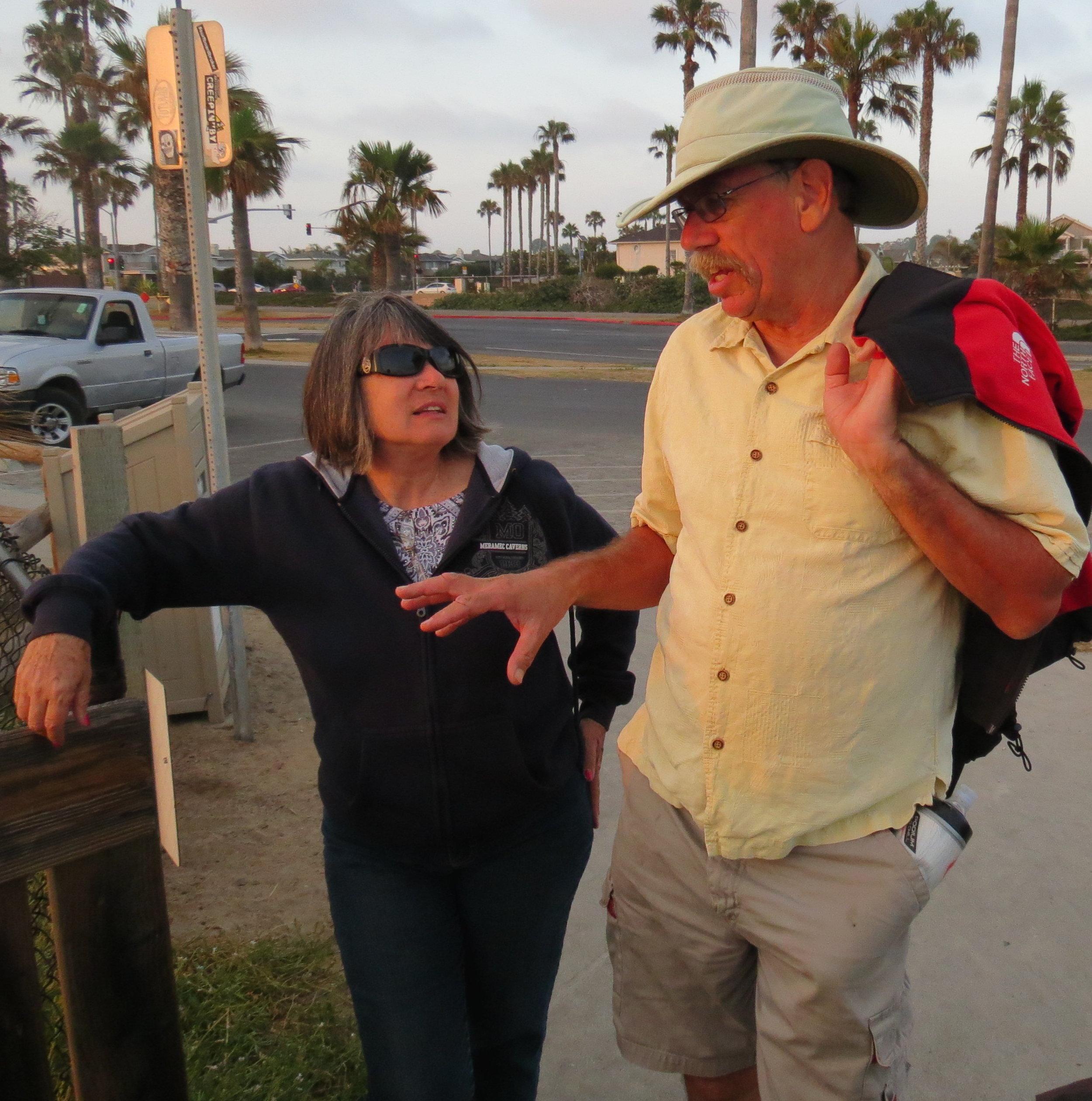 Karen & Bruce at the Summer Solstice Tour susnset