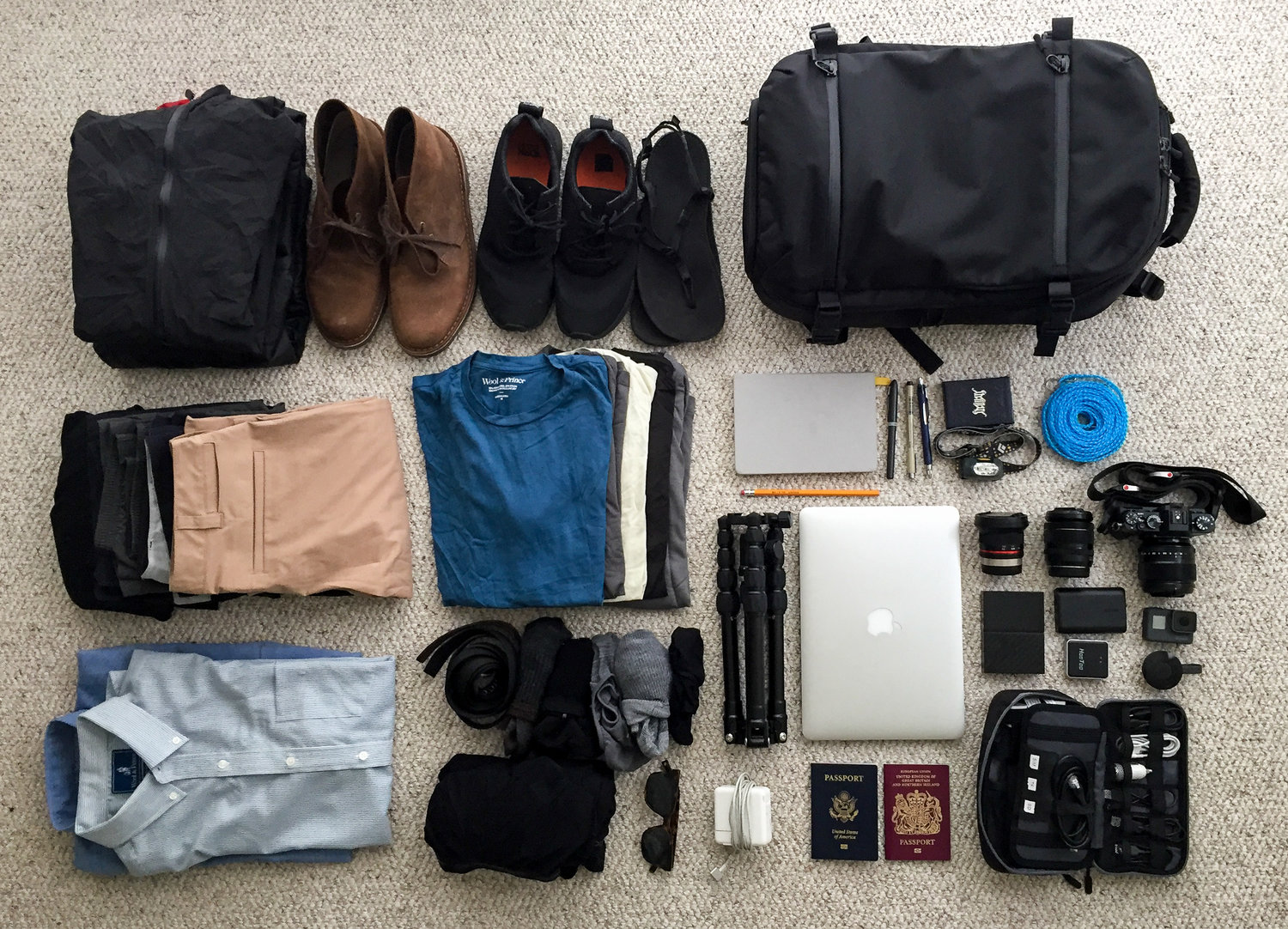 Packing for a round the world trip: Shane's Guide - July 12th, 2017