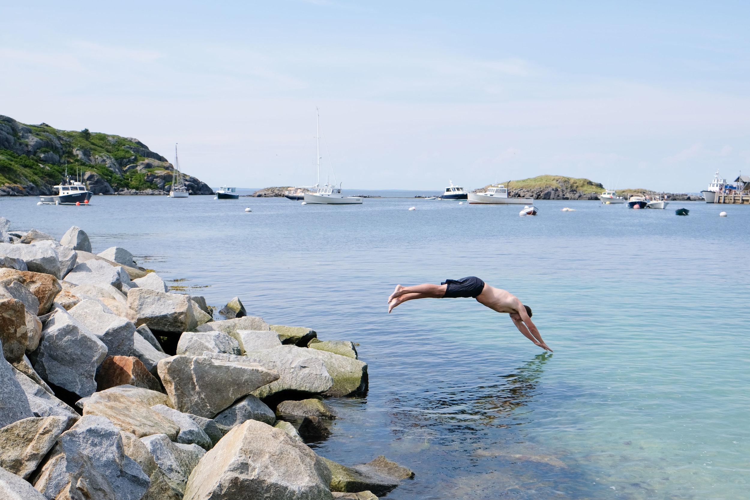 monhegan swimming